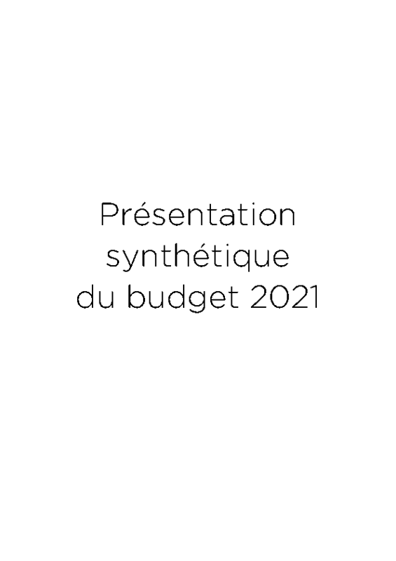 Rapport synthétique BP2021